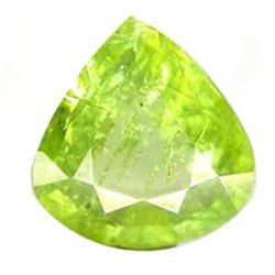 1.25ct Fantastic Natural Pear Pakistan Green Sphene (GEM-25083)