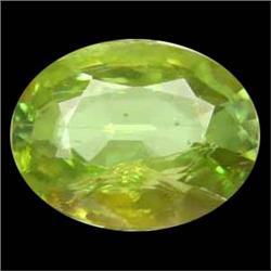2.50ct Attractive Natural Oval Green Sphene (GEM-24950)