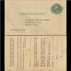 1914 US Washington 1c Postcard Nice (STM-0631)