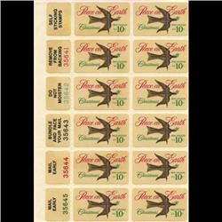 1974 US Christmas Pre-cancel Plate Block of 12 (STM-0653)