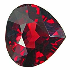 3.58ct Full Fire Red Rhodolite Garnet Pear  (GEM-19981)