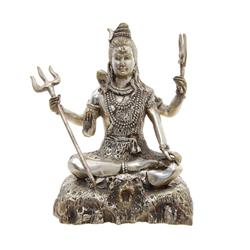 Vintage Shiva Bronze Nickel Statue  (ANT-578)