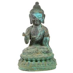 Bronze Antique Tibet Buddha on Lotus Base (ANT-171)