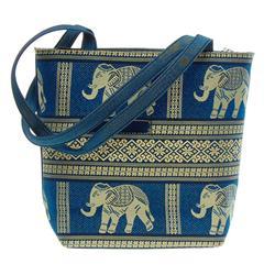 Thai Silk Hand Crafted Elephant Handbag (ACT-221)
