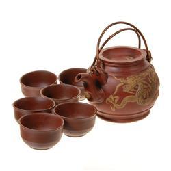 Chinese Dragon Clay Tea Set  (DEC-054)