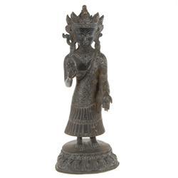 Antique Nepal Standing Buddha Bronze  (ANT-332)
