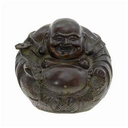 Vintage Chinese Bronze Laughing Buddha (ANT-568)