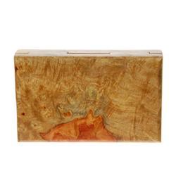 Box Handmade Solid Rare Afzelia Burl Wood  (DEC-081)