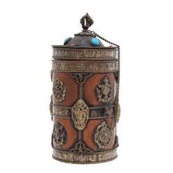 Tibet Brass Scroll Tube (ANT-577)