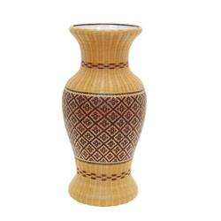 Finely Hand Woven Bamboo Covered Vase  (DEC-238)