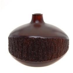 Handcarved Mango Wood Vase  (DEC-229)