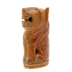 Vintage Hand Carved Bone Tiger Netsuke (ANT-552)