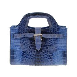 Ladies Blue Crocodile Handbag (ACT-098)