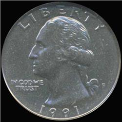 1991 Washington 25c Quarter Coin Graded GEM (COI-6902)