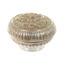 Antique Silver Lanna-Thai Tobacco Container (ANT-283A)