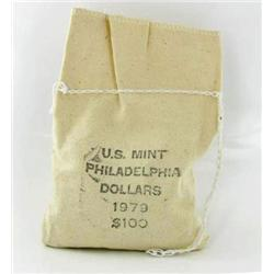 1979S Mint Sealed Bag of 100 SBA Uncirculated Dollars (COI-6497)