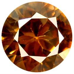 0.38ct Round Cut Brown Zircon Unheated  (GEM-14422C)