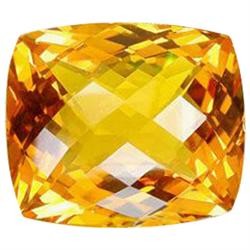 39.15ct Orange Yellow Citrine Cushion Checker Cut Appraisal Estimate $7830 (GEM-23796)