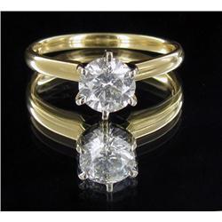 1.2ct Hi Grade VS/SI White Diamond 14k Gold Solitaire Ring (JEW-2026)