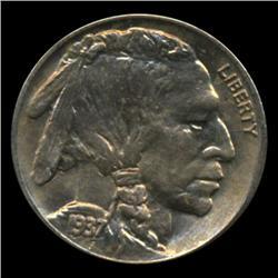 1937S Buffalo 5c Nickel BU Gem+ Coin (COI-1738)