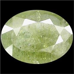 5.48ct Elegant Light Green Natural Sapphire Oval Cut (GEM-25262)