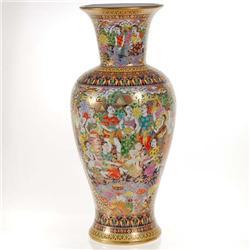 New 24k Heavy Gilded Ornate Benjarong Vase (CLB-084)