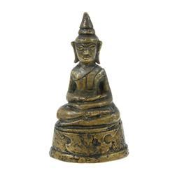 Antique Bronze Laos Ayudhya Buddha 1700s (ANT-343)