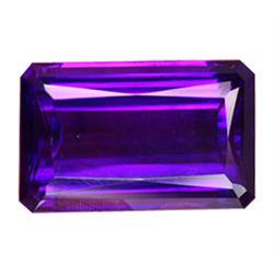 49.20ct Attractive Top Purple Emerald Cut Amethyst Appraisal Estimate $9840 (GEM-23370)