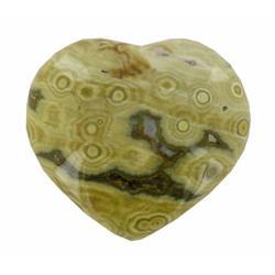 390ct Colorful Gem Grade Sea Jasper Heart (GEM-21149)