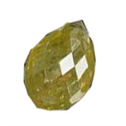 .5ct Golden Yellow Briolette Diamond Pendant  (GEM-16068C)