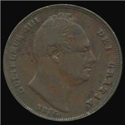 1835 Britain William IV Farthing High Grade (COI-7078)