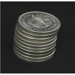 1948 Mexico Silver 5 Pesos Unsearched Stack of 10 Mostly BU 8.7 Ounces Silver! (COI-5233)