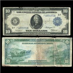 1914 US $10 Note Rare Hi Grade (COI-5272)