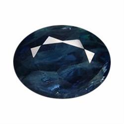 2.20ct Natural Deep Blue Sapphire Oval Facet Africa  (GEM-20120)