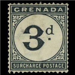 1892 Grenada 3p Postage Due Mint RARE (STM-0580)