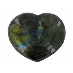 610ct Gem Grade Labradorite Polished Heart Neon Peacock Colors (GEM-21162)