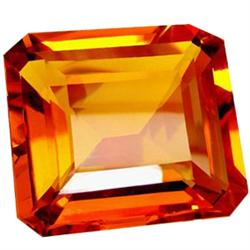 322.95ct Imperial Octagon Honey Red Orange Citrine   (GEM-23702)
