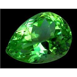 21ct Vvs Natural Super Green Pear Kunzite Gemstone (GEM-24635)