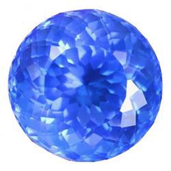 125.97ct Jumbo AAA Blue Brazilian Round Cut Quartz (GEM-23127)