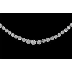 259 White Diamond Prong Set White 15gm 14k Gold Necklace Approx. 2ctw  (JEW-2027)