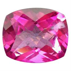 4.35ct Charming Gem Mystic Pink Cushion Topaz Appraisal Estimate $8700 (GEM-24279E)