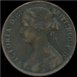 1870 Britain Victoria Penny High Grade (COI-7048)