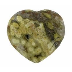 480ct Colorful Gem Grade Sea Jasper Heart (GEM-21150)
