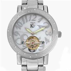 New Techno Com Diamond Bezel Mens Mother of Pearl Watch Retail $2,945 (WAT-128)