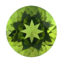 2.7ct Perfect Round Olive Green Pakistani Peridot Flawless (GEM-18848)