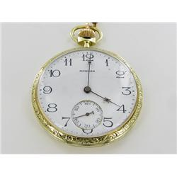 1916 Howard 14k Gold 17 Jewel Pocket Watch Excellent Condition (WAT-169)