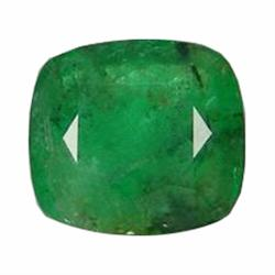 1.10ct Natural Medium Green Zambian Emerald Cushion (GEM-19568)