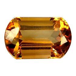 10ct Flawless Imperial Orange Emerald Cut Topaz Appraisal Estimate $25000 (GEM-24480)