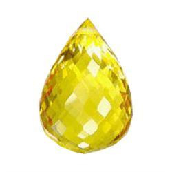 19.70ct Golden Yellow Citrine Briolette Appraisal Estimate $3940 (GEM-25141A)
