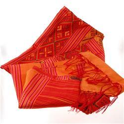 Laos Raw Silk Wall Tapestry (DEC-050)